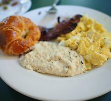 Cafe Amelie - Breakfast with Croissant & Grits by Daniel  Rarela
