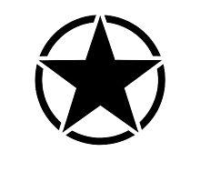 Army Invasion Star Photographic Print