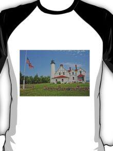 Point Iroquois Lighthouse, Upper Pennusula, Michigan T-Shirt