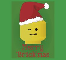 Merry Christmas Santa Minifig by Customize My Minifig Kids Clothes