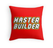 MASTER BUILDER by Customize My Minifig Throw Pillow