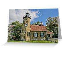 White River Lightouse Station, Whitehall, Michigan Greeting Card