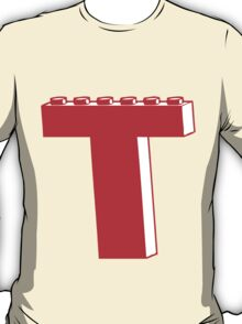 THE LETTER T by Customize My Minifig T-Shirt