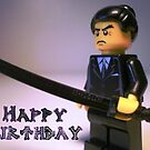 Happy Birthday Greeting Card Japanese Yakuza Gokudō Gangster Custom Minifig by Chillee
