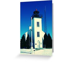 Early Spring thaw at Sand Point Light-Escanaba, Michigan Greeting Card