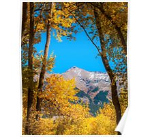 Fall colour on the last dollar highway Poster