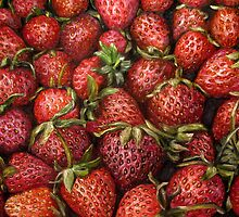Strawberries oil painting by Natalja Picugina
