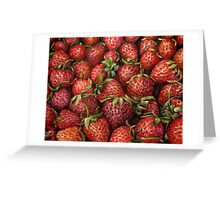 Strawberries oil painting Greeting Card