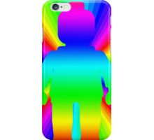 Rainbow Minifig in front of Rainbow  iPhone Case/Skin