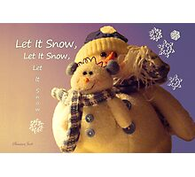 Snowman with His Snowbaby Photographic Print