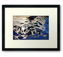 White boat refections Framed Print