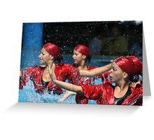 Aqua Ballet Greeting Card