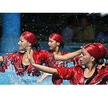 Aqua Ballet Photographic Print