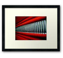 Red Interior Framed Print