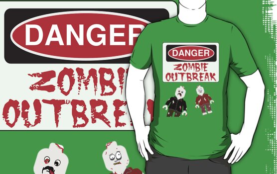 DANGER ZOMBIE OUTBREAK, by Customize My Minifig by ChilleeW