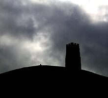 Contemplation at Glastonbury Tor by gothgirl