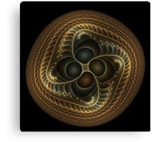 Copper button twist Canvas Print