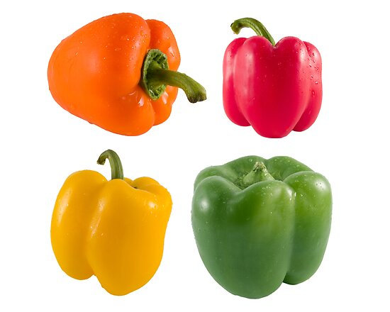 Fresh bell peppers by travis manley