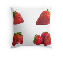 fresh strawberrrys Throw Pillow