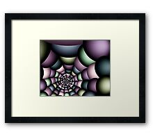 Into the web Framed Print