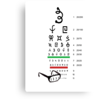 Alien eye chart Canvas Print