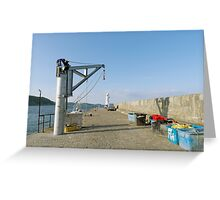 Along The South Breakwater, Mevagissey Greeting Card