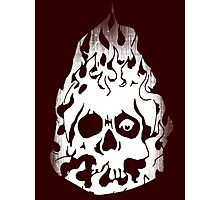 Fire Skull. Photographic Print