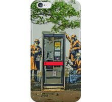 GCHQ listening post by Banksy iPhone Case/Skin