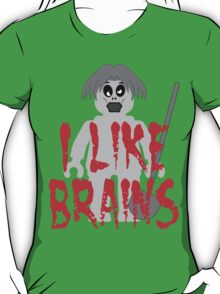 "Zombie Minifig ""I LIKE BRAINS"", by Customize My Minifig T-Shirt"