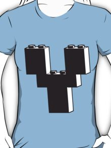 THE LETTER Y, by Customize My Minifig T-Shirt