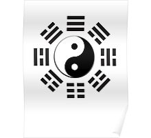 Yin & Yang, I Ching, Pure & simple, BLACK Poster