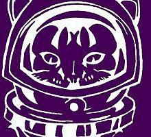 PURPLE SPACE CAT SMARTPHONE CASE(Graffiti) by leethompson