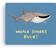 Whale Sharks Rule! Canvas Print