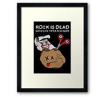 Rock Is Dead Framed Print