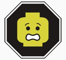 SCARED MINIFIG FACE ROADSIGN by ChilleeW