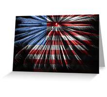 American Fireworks Greeting Card