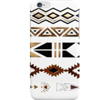 Tribal Aztec Gold and Black Design iPhone Case/Skin