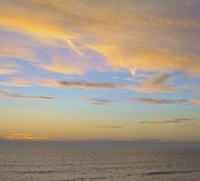 Sunset At Westward Ho! by GallyThreepwood