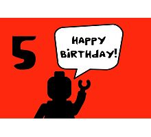 Happy 5th Birthday Greeting Card Photographic Print