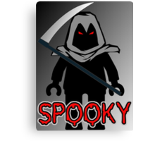 Spooky Grim Reaper Minifig, 'Customize My Minifig' Canvas Print