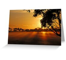 The rays of dawn Greeting Card