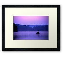 Twilight Fisherman Framed Print