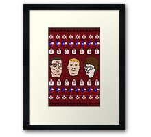King Of the Sweaters Framed Print