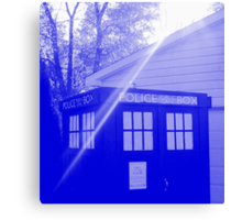Blue and White T.A.R.D.I.S. Canvas Print