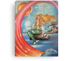 Mermaid On Rocks Canvas Print