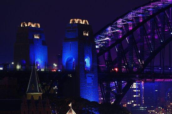 Bridge in blue by Sara Lamond