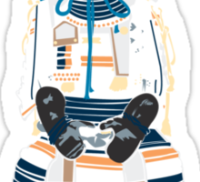 Sitting Samurai Sticker