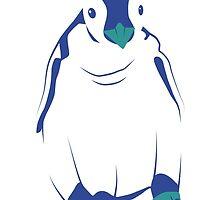 Festive Penguin, Blue by anhcreative