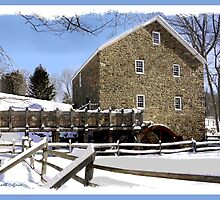 Grist Mill in Winter by Kenneth Hoffman
