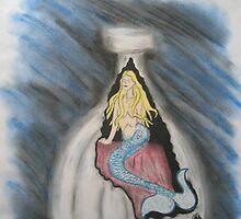 Bottle Of Mermaid by virginiapatrick